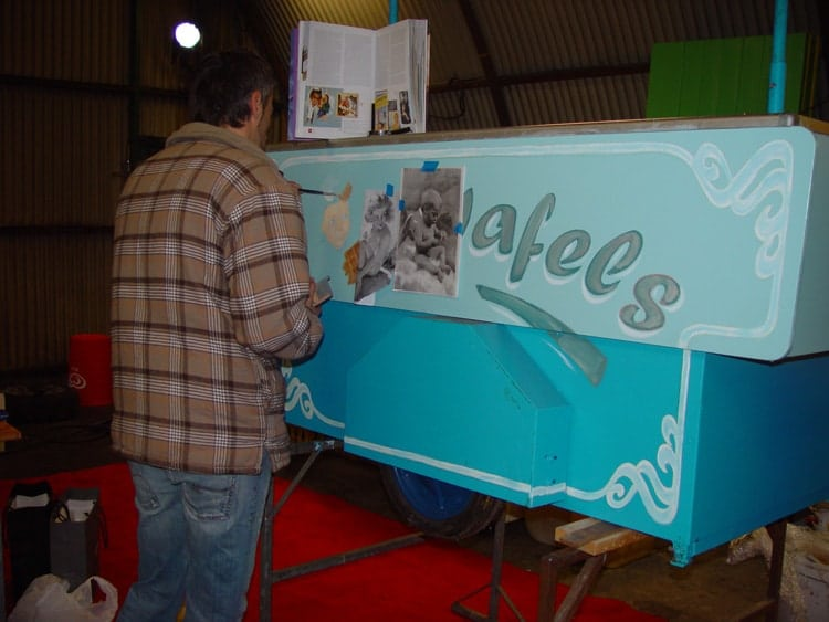 Restauratie Nostalgische ijskar